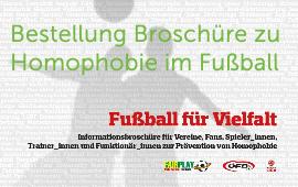 """Anti-Homophobie Broschüre """"Fußball für Vielfalt"""""""
