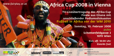 Flyer Africa-Cup 2008 in Vienna