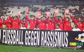 Österreichs Nationalteam gegen Rassismus.