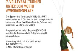 Poster 7. Volleyballturnier #WirhabenPlatz