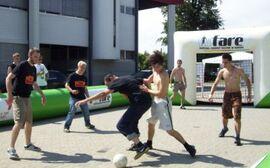 Streetkick Turnier bei der Fanbotschaft Klagenfurt