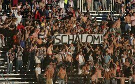antisemitisches Transparent der LASK-Fans im Juli 2007.