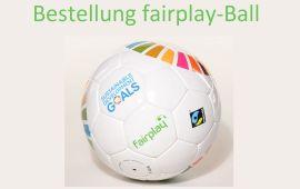Bestellung fairplay-Fußball